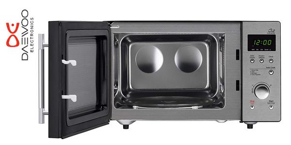 Microondas con Grill DAEWOO KOG-837RS de 23 Litros y acero inoxidable chollo en eBay