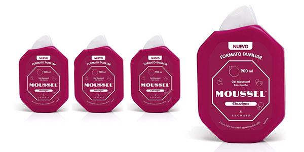 Pack de 4 envases de gel de baño Moussel familiar al mejor precio en Amazon
