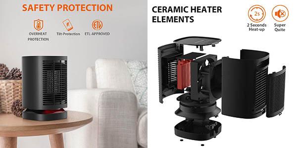 Nexgadget PTC 950W calefactor cerámico con valoraciones estupendas oferta