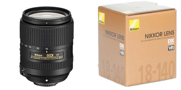 Objetivo Nikon AF-S DX NIKKOR 18-140mm f/3.5-5.6G ED VR Lens chollazo en eBay