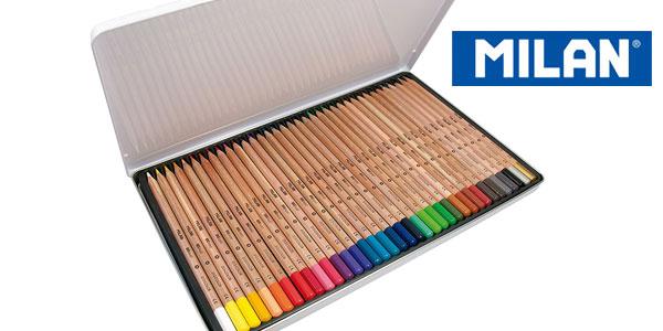Pack x36 lápices de colores Milán de mina grande barato en Amazon