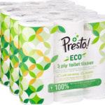 Pack 36 rollos Papel higiénico Presto! de 3 capas ECO barato en Amazon
