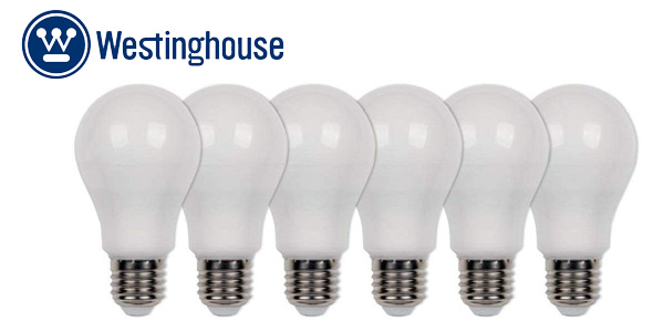 Pack x6 bombillas Westinghouse LED E27, 9 W, blanco cálido barato en Amazon