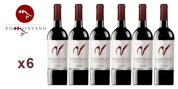 Pack 6 botellas vino tinto Vinitium Colección especial Reserva 2014 (D.O. Somontano) barato en eBay