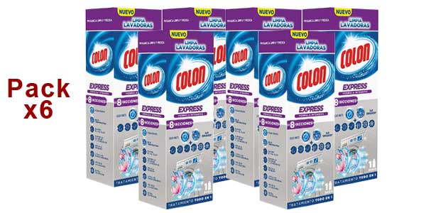 Pack 6 paquetes x250 ml Colon Limpialavadoras Express barato en Amazon