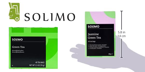 Pack 6 cajas de 40 bolsitas Té Amazon Solimo chollo en Amazon
