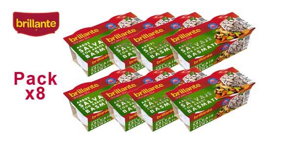 Pack de 8 paquetes (2x125gr) Brillante arroz salvaje con arroz basmati barato en Amazon