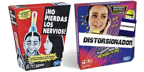 Pack Juegos de mesa ¡No pierdas los nervios! + Distorsionador de Hasbro Gaming barato en Amazon