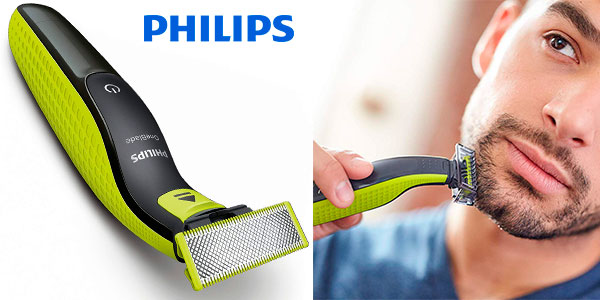Pack Recortador de barba Philips OneBlade recargable + estuche en oferta