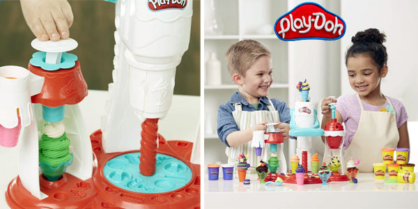 Super Heladería Play-Doh + Mega Pack 36 botes plastilina colores Hasbro chollo en Amazon