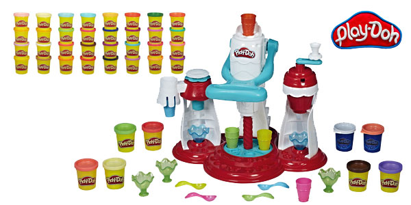 Super Heladería Play-Doh + Mega Pack 36 botes plastilina colores Hasbro barato en Amazon