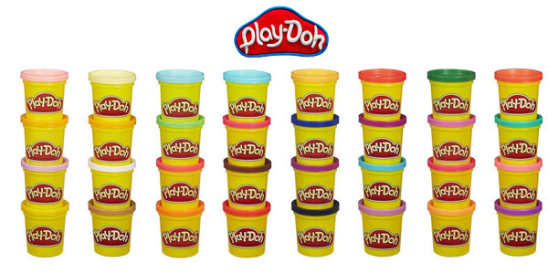 Super Heladería Play-Doh + Mega Pack 36 botes plastilina colores Hasbro chollazo en Amazon