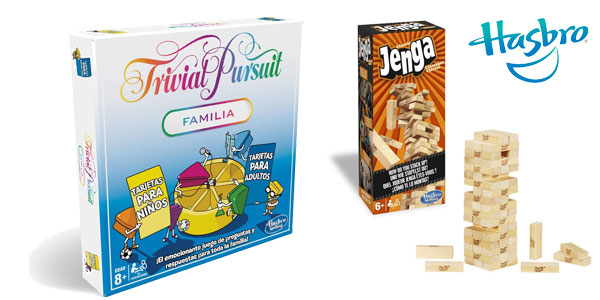 Pack Trivial Pursuit Familia + Jenga Classic de Hasbro Gaming barato en Amazon