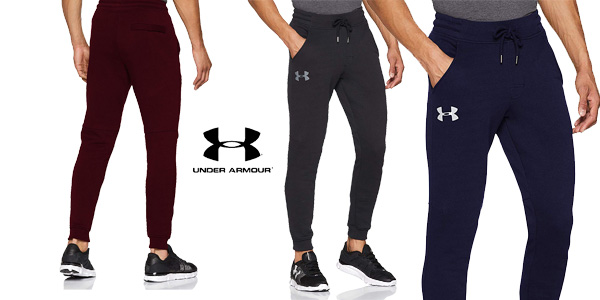 Pantalón Jogger Under Armour Rival Fitted Tapered para hombre barato en Amazon