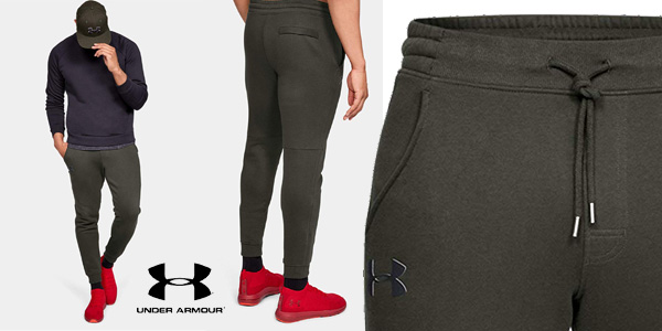 Pantalón Jogger Under Armour Rival Fitted Tapered para hombre chollo en Amazon