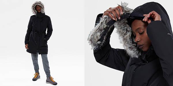 parka abrigo The North Face Zaneck con capucha extraíble y tejido impermeable oferta