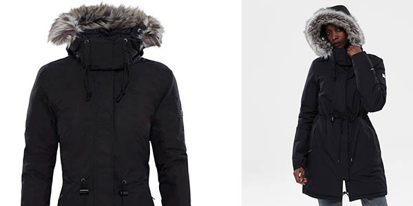 parka ligera de abrigo elegante The North Face Zaneck chollo