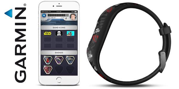 Pulsera de actividad infantil Garmin Vivofit JR2 Star Wars oferta en Amazon