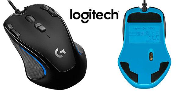 Ratón óptico Logitech G300s con 9 botones barato