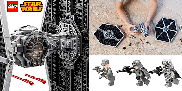 Set Caza Tie Imperial de LEGO Star Wars con 4 minifiguras barato