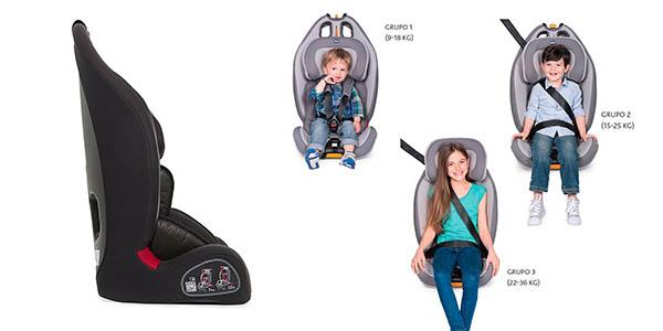 silla de coche adaptable al crecimiento del bebé Chicco Gro-Up 1/2/3 oferta