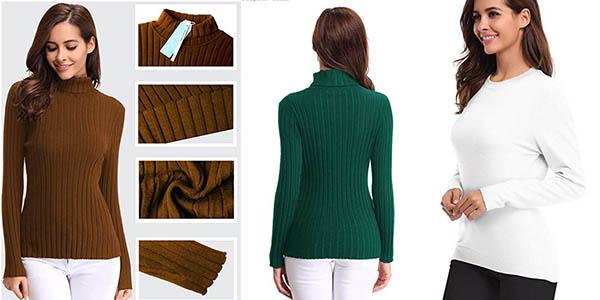 suéter canalé Abollria para mujer barato