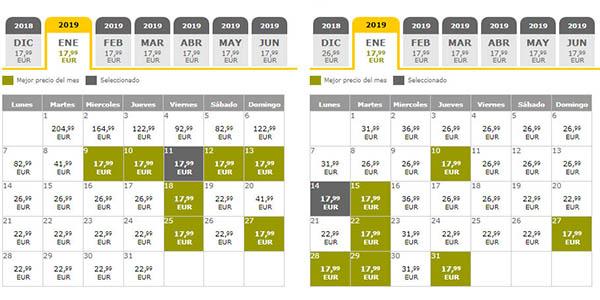 Vueling ofertas Yellow Week 19 de noviembre de 2018