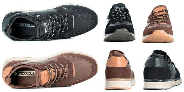 Chollo Zapatillas Black Barred Matthew en 2 modelos para hombre