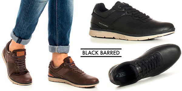 Zapatillas Black Barred Roderick para hombre baratas