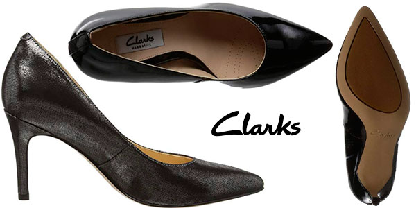 Zapatos Clarks Dinah Keer de tacón de 8,5 cm en 2 modelos para mujer