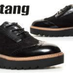 Zapatosde cordones Mustang Dafne en negro para mujer baratos en eBay