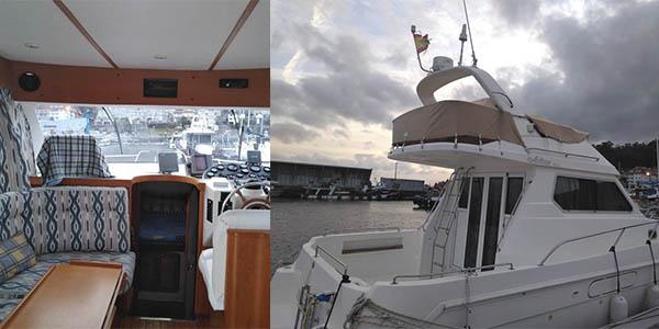 alojamiento en barco Combarro relación calidad-precio estupenda