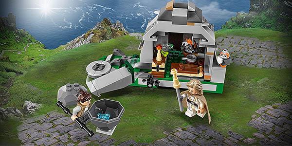 caja LEGO Star Wars entrenamiento Ahch Island chollo