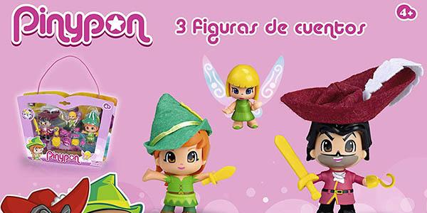 caja Pinypon con figuras de Peter Pan Campanilla Garfio chollo