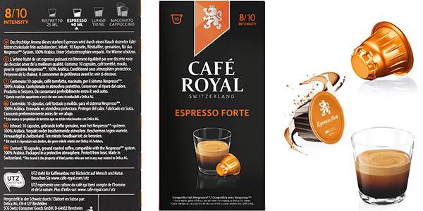 cápsulas de café Nespresso Royal Espresso Forte intensidad alta oferta