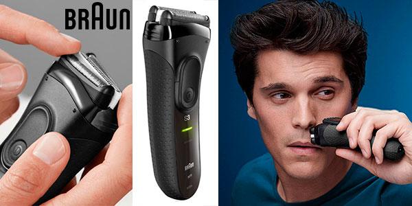 Chollo Afeitadora eléctrica Braun Series 3 ProSkin 3020s inalámbrica y recargable para hombre