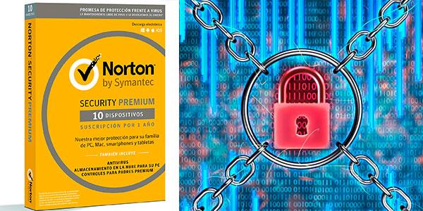 Chollo Antivirus Norton Security Premium 2019 para 10 dispositivos