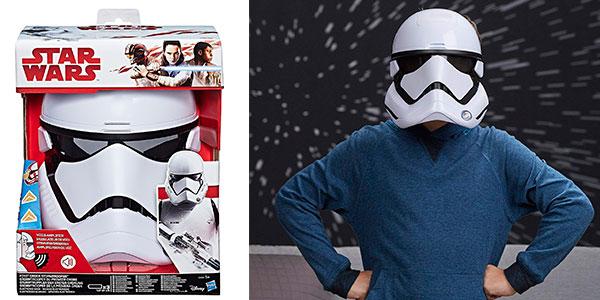 Chollo Máscara electrónica de StormTrooper de la Primera Orden de Star Wars con distorsión de voz