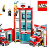 Set Estación de bomberos LEGO con 6 minifiguras