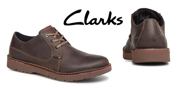 Clarks Vargo Plain zapatos de cuero baratos