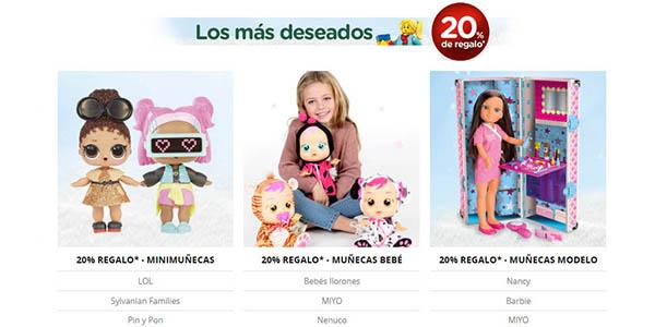 El Corte Inglés cupón descuento en compras de juguetes Navidad 2018