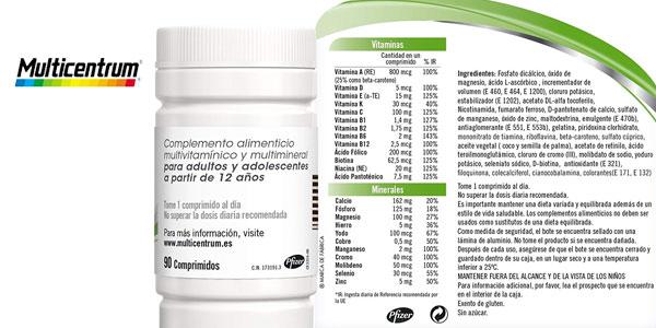 Multicentrum 90 comprimidos chollazo en Amazon