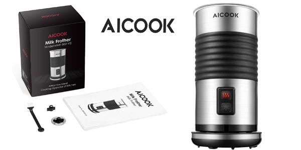 Espumador de leche eléctrico Aicook barato en Amazon