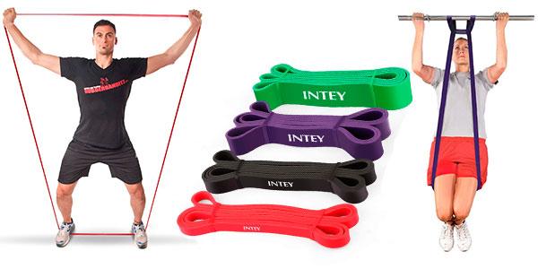 Pack Intey de 4 bandas elásticas de resistencia para entrenamientos de fuerza barato