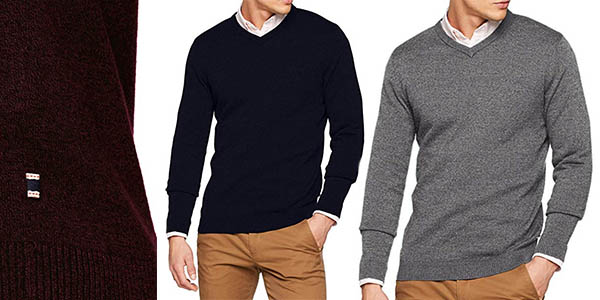 Jack Jones Jjebasic Knit V Neck Noos jersey de cuello pico chollo