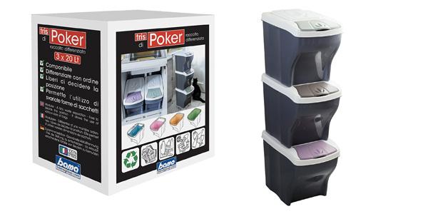 Juego de 3 Cubos Bama Poker de basura diferenciada barato en Amazon