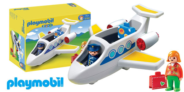 Avión Playmobil 1.2.3 (6780) barato en Amazon