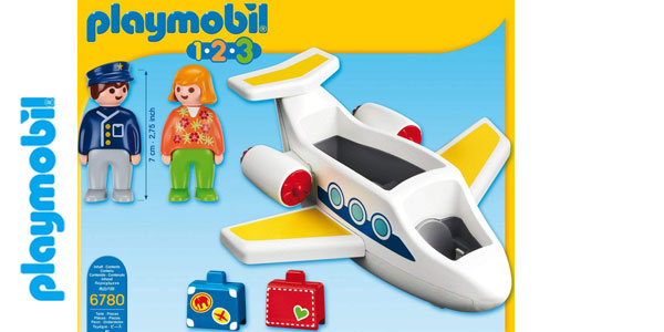 Avión Playmobil 1.2.3 (6780) chollo en Amazon