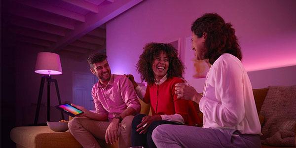 Pack 3 bombillas LED E27 Philips Hue White and Color Ambiance chollazo en Amazon