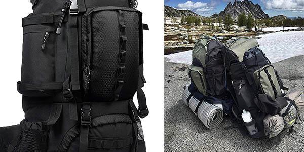 mochila de viaje AmazonBasics resistente con gran relación calidad-precio